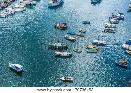 Boats In The Sea Port