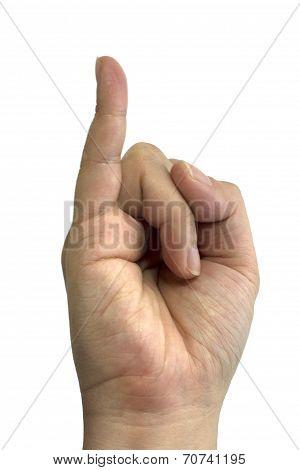 Sign language J