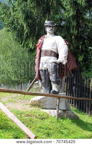 Monument to Nikola Shugai in the village Kolochava, Transcarpathia