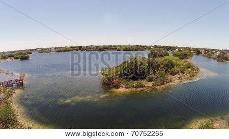 Aerial View Of Lake In Florida