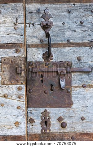 Rusty Lock Of Door