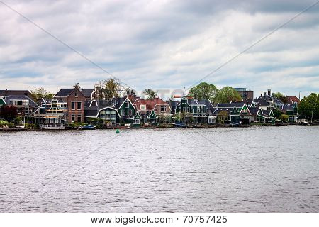 Old traditional houses at Zaanse Schans