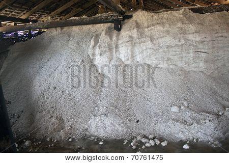 Storage of a salt