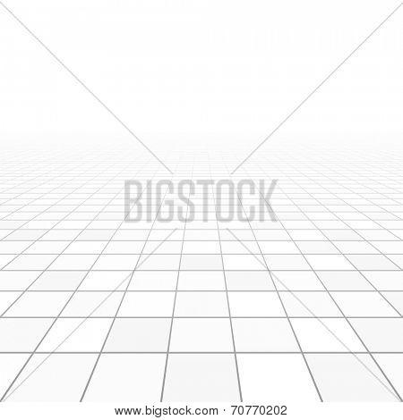 Floor tiles perspective. Vector.
