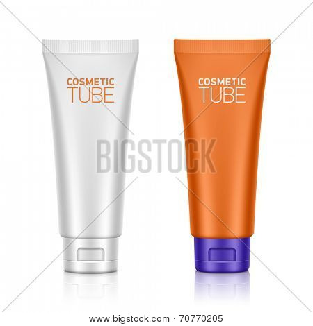 Cosmetic packaging, plastic tube. Vector. poster
