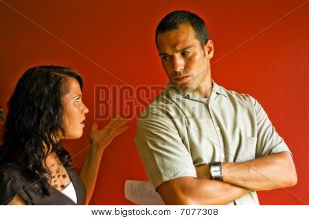 Young Attractive Adult Couple Relationship Fight Angry Mad
