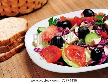 Plate With Salad