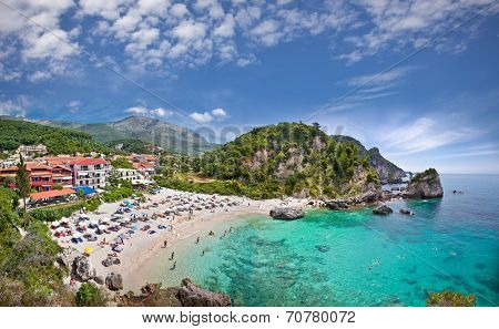 Piso Kryoneri beach in Parga town of Syvota area, Greece.