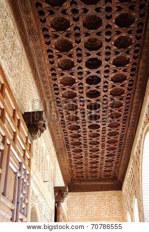 Moorish ceiling, Palace of Alhambra.