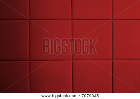Red Leather Pattern On Wall