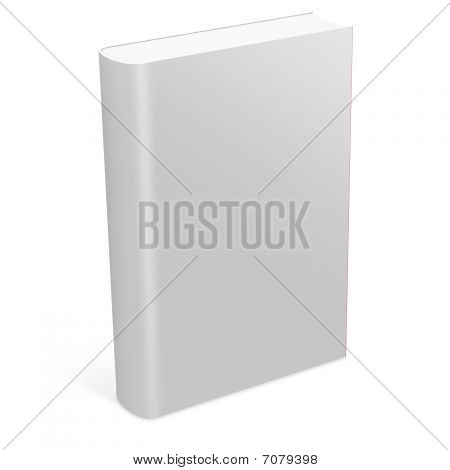 3d software book with blank covers isolated on white