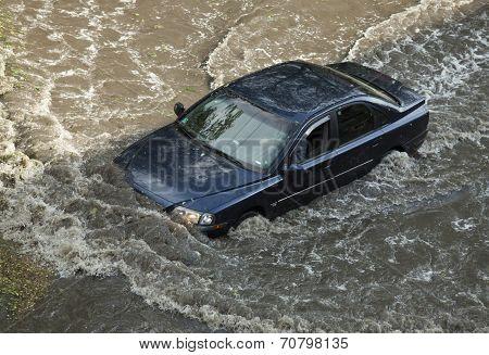Flood After Hail Storm