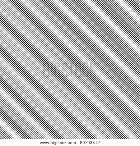 Straight, slanted thick and thin lines - black and white vector pattern poster
