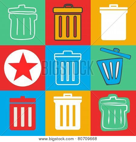 Unwanted Data Computer Clear Trash Waste Icon Vactor Concept