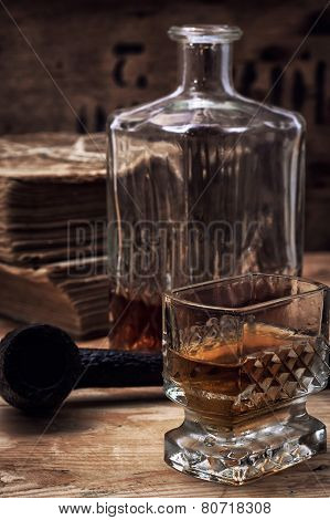 alcoholic drink of whiskey