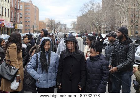 National Action Network members gather