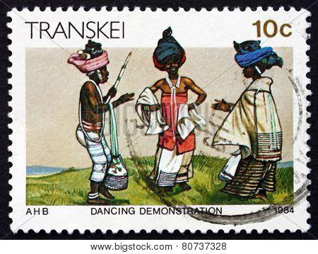 Postage Stamp Transkei, South Africa 1984 Dance Demonstration