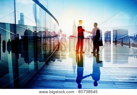 Business People Hand Shake Partnership Teamwork Deal Cooperation