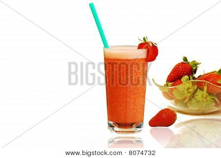 Fresh Strawberries Juice