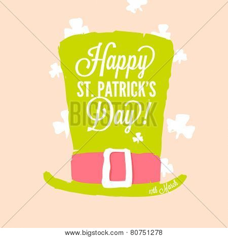 St. Patrick's day - leprechaun top hat with buckle