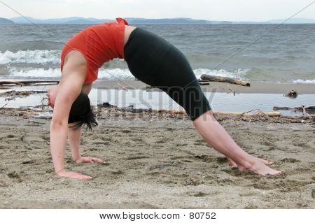 Yoga On The Beach-Backward Bend