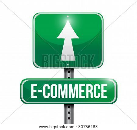 E Commerce Road Sign Illustration Design