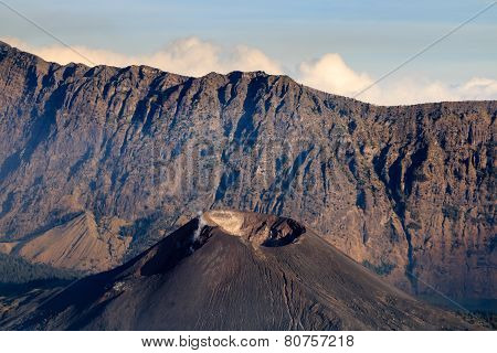 Small Volcanic Vent From The Active Volcano Cone
