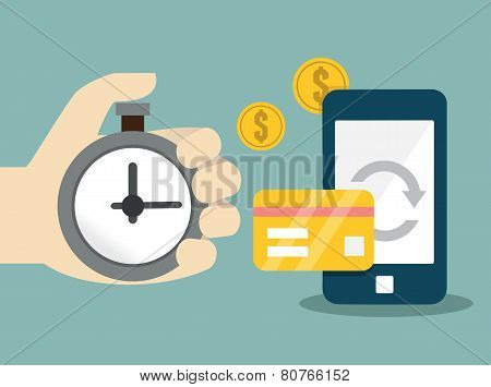 Vector Flat Concept Of Mobile Banking And Online Payment