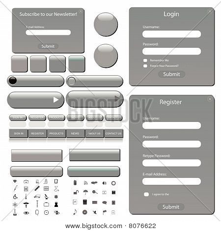 Web Template Lightgrey