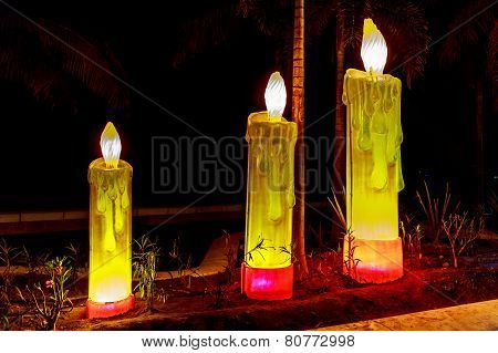 Candles On Boardwalk