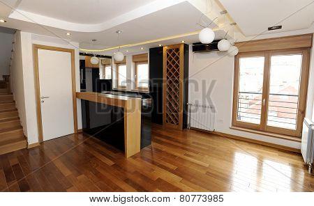 Modern empty appartment