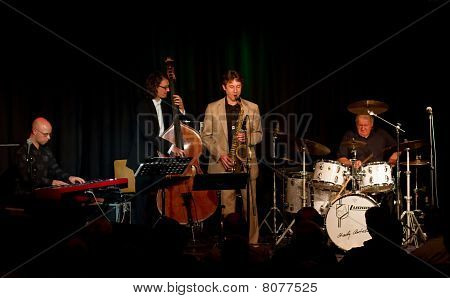 Charly Antolini, Swiss jazz drummer, and his Swingin`Band