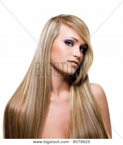 Adult Girl With Beauty Blond Hairs