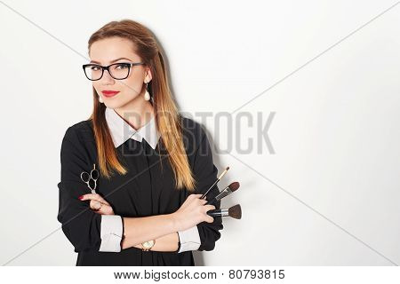 Portrait of female stylist
