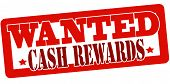 Stamp with text wanted cash reward inside vector illustration poster