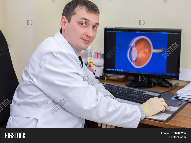 ophthalmologist work image photo free trial bigstock