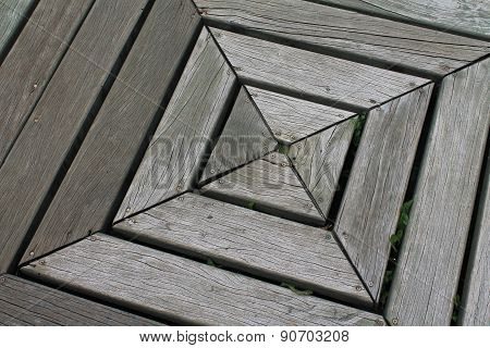 Weathered Wood Square Canted To One Side