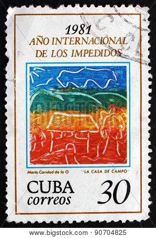Postage Stamp Cuba 1981 House In The Country