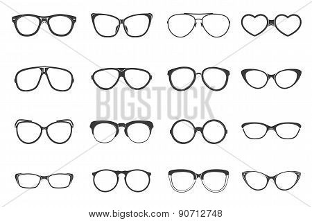 Eyeglasses Set Flat