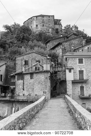 Codiponte (Massa e Carrara Tuscany Italy) old village in Lunigiana poster