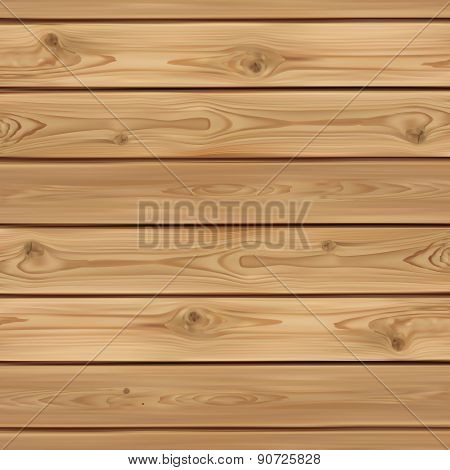 Realistic wooden background.