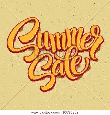 Summer sale. Retro pop art style. Vector illustration