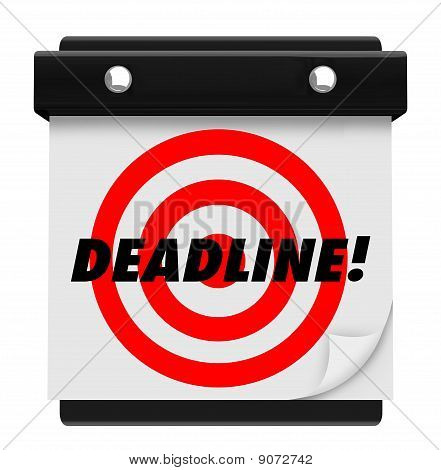 Deadline - Wandkalender hängen