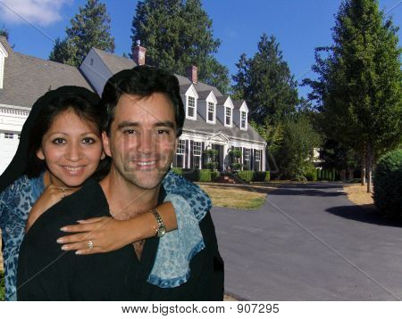 Couple with house