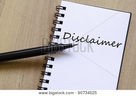 Disclaimer Concept Notepad