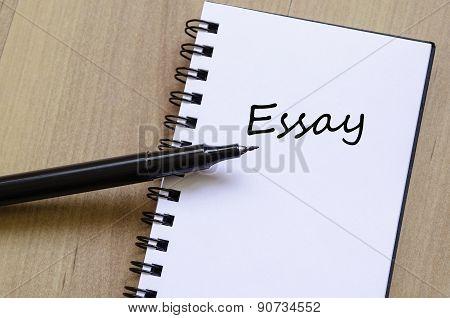 Essay Concept Notepad