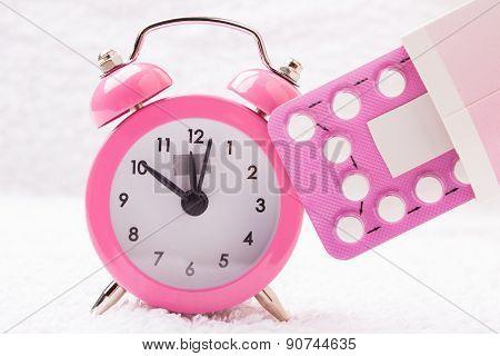 Alarm Clock And Contraceptive Pills