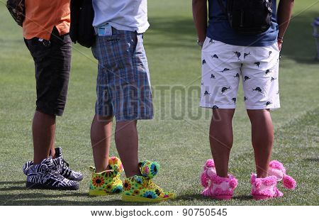 Funny Shoes At The Ana Inspiration Golf Tournament 2015