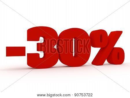 3d Thirty percent discount