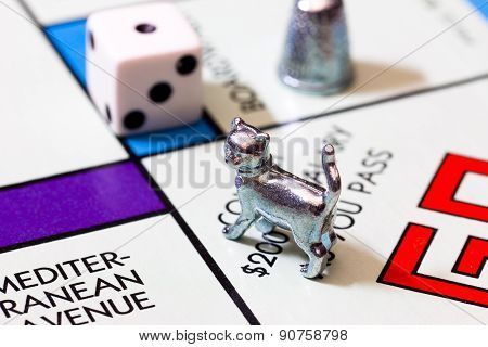 Macro Image Of Monopoly Game And Figures